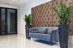 Hall with comfortable sofa